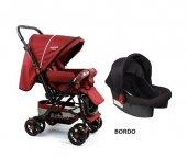 Diamond Baby P 101 Çift Yönlü Travel Sistem Bebek Arabası - 6 Renk - Ayak Örtüsü Yağmurluk Dahil-2