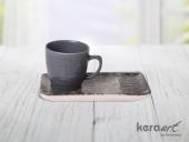 Keramika 4 Parça Doğaltaş Atıştırmalık Set Mat Ren
