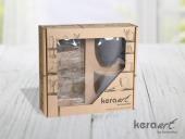 Keramika 4 Parça Doğaltaş Atıştırmalık Set Mat Ren-4