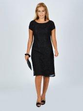 Nidya Moda Büyük Beden Dantel Vako Siyah Abiye Elbise 4035ds