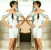 Kadın Beyaz İpli Elbise