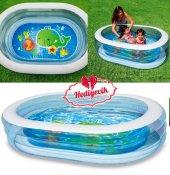 Çocuk Havuzu Şefaf Oval Havuz 163X107x46Cm Şişme Havuz Oyun Havuzu Çocuk Havuzu-2