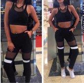 Japon Style Kadın Tüllü Siyah Eşofman Takım