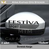 Ford Festiva Ayna Oto Sticker (2 Adet)