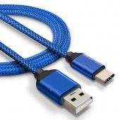 Sony Xperia Xz Premium Type C Hızlı Şarj Data Kablosu Premier Örgülü Kablo 1 Metre-2