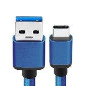Sony Xperia Xz Premium Type C Hızlı Şarj Data Kablosu Premier Örgülü Kablo 1 Metre-3