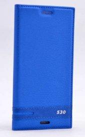 HTC Desire 530 Kılıf Elite Kapaklı Kılıf Mavi