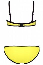 Renkli Altı Sarı Özel tasarım Bikini-5