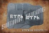Göktürk Siyah Ön Arka Koltuk Direksiyon Seti Paspas Sticker
