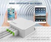 tsmart iPhone Şarj Kablolu 4 USB Seyahat Şarj Cihazı-6