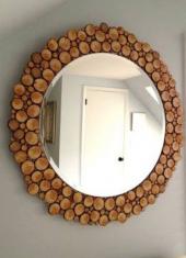 Ahşap Ayna 80 Cm