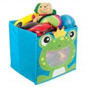 Mavi Erkek Çocuk Oyuncak Saklama Kutusu Kurbağa