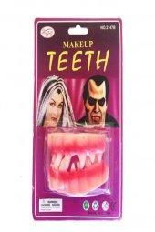 1 Ad Takma Vampir Dişleri Cadılar Bayramı Hallowen Şaka Malzemesi-3