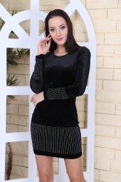 Kadife Siyah Elbise