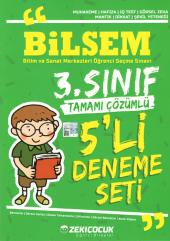 Zeki Çocuk Yayınları 3.sınıf Bilsem Tamamı Çözümlü 5 Li Deneme