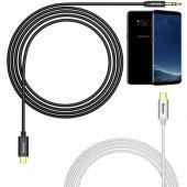 Samsung Galaxy S8 Plus Dijital Aux Kablosu Type C Aux Ses Kablo 100cm
