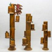 Doğal 4 Lü Bambu Saksılık Naturel Orta Boy...