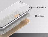 Samsung Galaxy A3 2017 Simli Silver Silikon Kılıf-3
