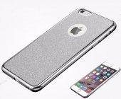 Samsung Galaxy A3 2017 Simli Silver Silikon Kılıf-5