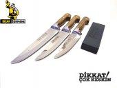 Mutfak Bıçak Seti 3' Lü Lazoğlu Sürmene Bilezikli Orijinal El Yapımı