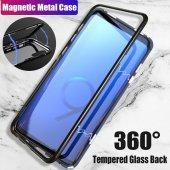 Samsung S7 Edge G935 Kılıf 360 Mıknatıslı Metal Bumper