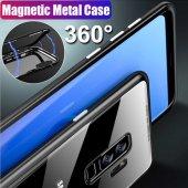 Samsung S7 Edge G935 Kılıf 360 Mıknatıslı Metal Bumper-6