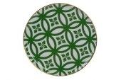 Porland Morocco Düz Tabak Desen1 Yeşil 20cm