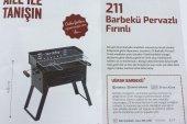 Kömürlü Mangal Piknik Barbekü Pervazlı Fırınlı KATLANIR AYAKLI-4