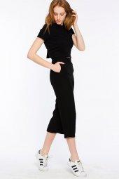 Sırakuza - Rahat Kesim Siyah Pantolon | 160033-1-2