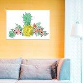Angemiel Home Ananas Ve Çiçekler 20x30 Cm Mdf...