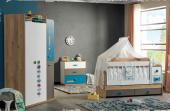 Single Bebek Odası Takımı Kısa Sallanır Beşik 3lü Dolap Şifonyer