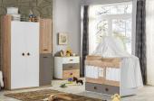 Aras Bebek Odası Takımı Uzun Sallanır Beşik Dolap Şifonyer