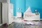Lilyum Bebek Odası Takımı Uzun Sabit Beşik Dolap Şifonyer