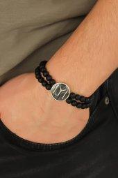 Siyah Metal Kayı Boyu Tasarımlı Siyah Renk Mat...