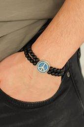Barış Figürlü Mavi Renk Silver Metal Aksesuarlı...