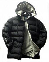 Erkek Çocuk Kapşonlu Siyah Renk Şişme Mont