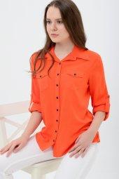 Büyük beden turuncu gömlek 4315-4  -2