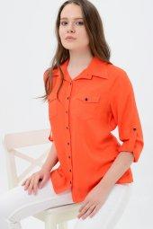 Büyük beden turuncu gömlek 4315-4  -3
