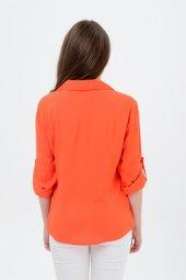 Büyük beden turuncu gömlek 4315-4  -4