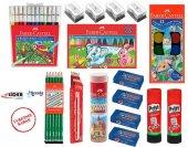 Faber Castell Okul Kırtasiye 16 Parça Mega Set Boya,kalem,silgi,açacak,yapıştırıcı
