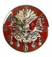 Rikon Osmanlı Arması Dekoratif Bombe Camlı Duvar Saati 35X35 Cm