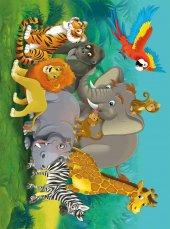 EUROSER Sevimli Hayvanlar Desenli Çocuk Halısı-2