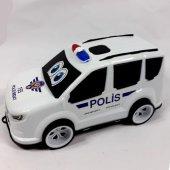Büyük Boy Oyuncak Polis Aracı Arabası 36x13x16 Cm
