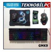 Gaming K9 Klavye X7 Mouse Seti Ledli+mouse Pad Hediyeli