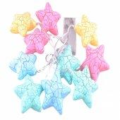 10lu Renkli Yıldız Şeklinde Dolama Led 1,5 Metre-2
