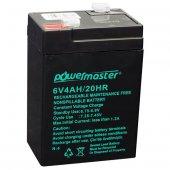 Akü 6 Volt 4 Amper Powermaster * Energy Mustang * Wattson (70 X 48 X 101 Mm) (Işıldak Aküsü)