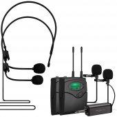 Magıcvoıce Mv 1304yy Uhf 2 Yaka + 2 Headset Kablosuz Telsiz Mikrofon