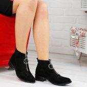 Ayakland 622 Günlük Fermuarlı Bayan Süet Bot Ayakkabı
