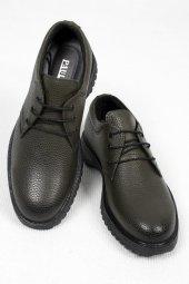 Deepsea Haki Yüksek Tabanlı Bağcıklı Deri Ayakkabı 2006408
