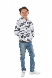 Erkek Çocuk Kamuflaj Kapüşonlu Sweatshirt...